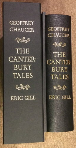 Folio Society The Canterbury Tales spines