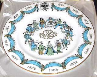 Spode D'Oyly Carte Gilbet and Sullivan plate
