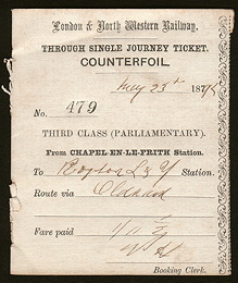 London and North West Railway counterfoil
