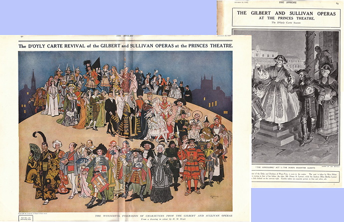 H.M. Brock Gilbert and Sullivan Character Parade, 1919, in The Sphere