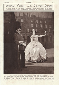 1938 Gilbert and Sullivan Seaso at the Scala in The Sphere