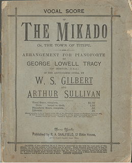Vocal Score of The Mikado