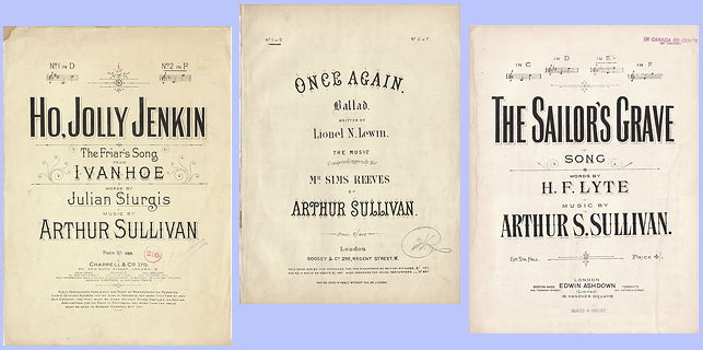 Sheet music by Sir Arthur Sullivan
