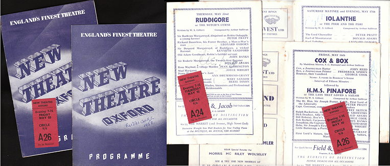 1958 New Theatre Oxford programs