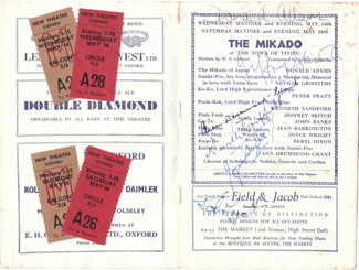 Signed Mikado program, New Theatre Oxford, 1958