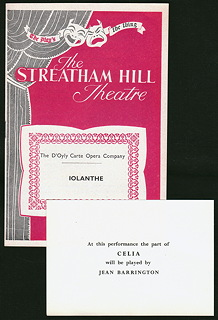 Streatham Hill Theatre 1957, with indulgence