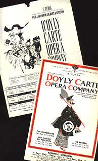 Hurok presents D'Oyly Carte handbills