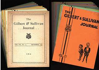 Gilbert and Sullivan Journal