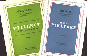 Two D'Oyly Carte anniversary programmes