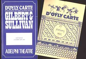 D'Oyly Carte final night 1982 programme and insert