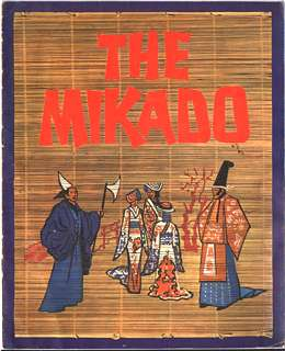 1967 Mikado movie programme