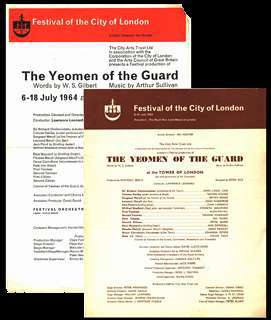 Yeomen at Tower of London programmes