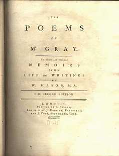 Gray's Poems title page