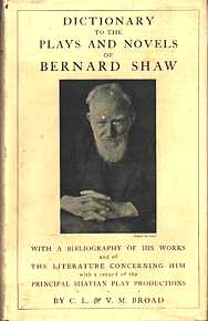 Dictionary to the Plays and Novels of Bernard Shaw