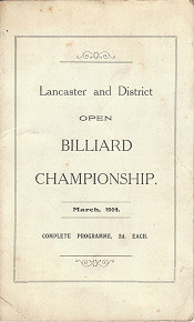 Lancaster and District Open Billiard Championship