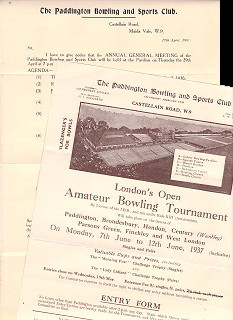 London's Amateur Bowling Tournament