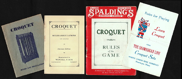 Croquet - Books and booklets of rules, laws and regulations